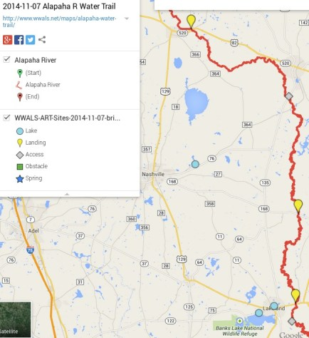 652x713 ARWT North Legend, in Alapaha River Water Trail draft map, by John S. Quarterman, for WWALS.net, 7 November 2014