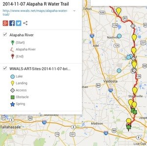 300x297 ARWT Legend, in Alapaha River Water Trail draft map, by John S. Quarterman, for WWALS.net, 7 November 2014