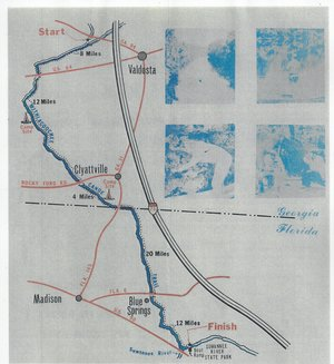 300x327 Map, in Canoe Guide to the Withlacoochee River Trail, by John S. Quarterman, for WWALS.net, 0  1979