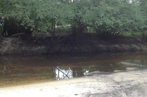 600x396 Just upstream from the bridge, in GA 135 Alapaha River access, by Bret Wagenhorst, for WWALS.net, 14 September 2014
