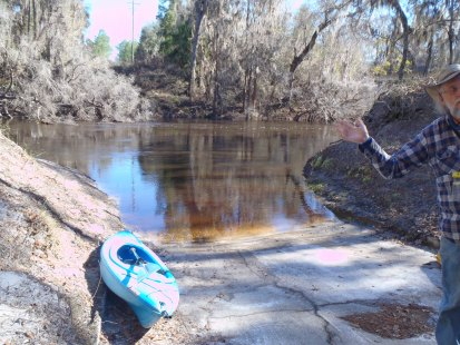 4288x3216 Welcome, in Alapaha River at Statenville, January 2014 WWALS Outing, by Gretchen Quarterman, 18 January 2014