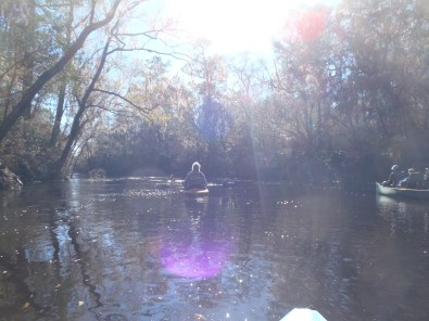 4288x3216 All three boats, in Alapaha River at Statenville, January 2014 WWALS Outing, by Gretchen Quarterman, 18 January 2014