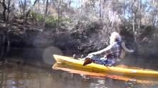1280x720 Movie: Need a bigger boat (19M), in Alapaha River at Statenville, January 2014 WWALS Outing, by Gretchen Quarterman, 18 January 2014