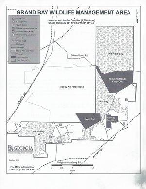 300x388 Flyer Map, in Grand Bay WMA, by John S. Quarterman, 13 April 2015