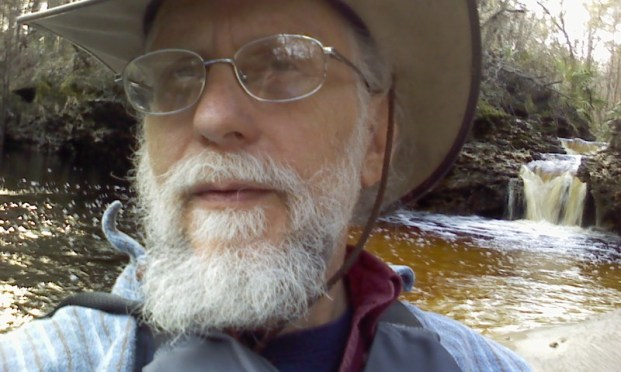 800x480 Selfie Turket, in Statenville to Sasser Landing on the Alapaha River, by John S. Quarterman, for WWALS.net, 15 February 2015