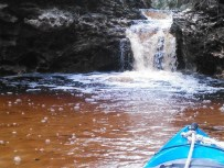 600x450 Waterfall closeup, in Statenville to Sasser Landing on the Alapaha River, by John S. Quarterman, for WWALS.net, 15 February 2015