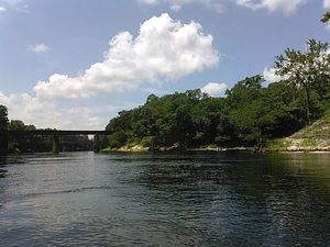 Railroad bridge and Withlacoochee Confluence 30.3856888, -83.1705932