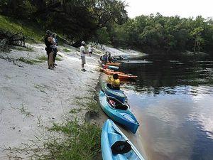 Kayaks at sand beach 30.4193954, -83.1344223