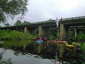 No pipeline sign on bridge 30.8920612, -83.3194427