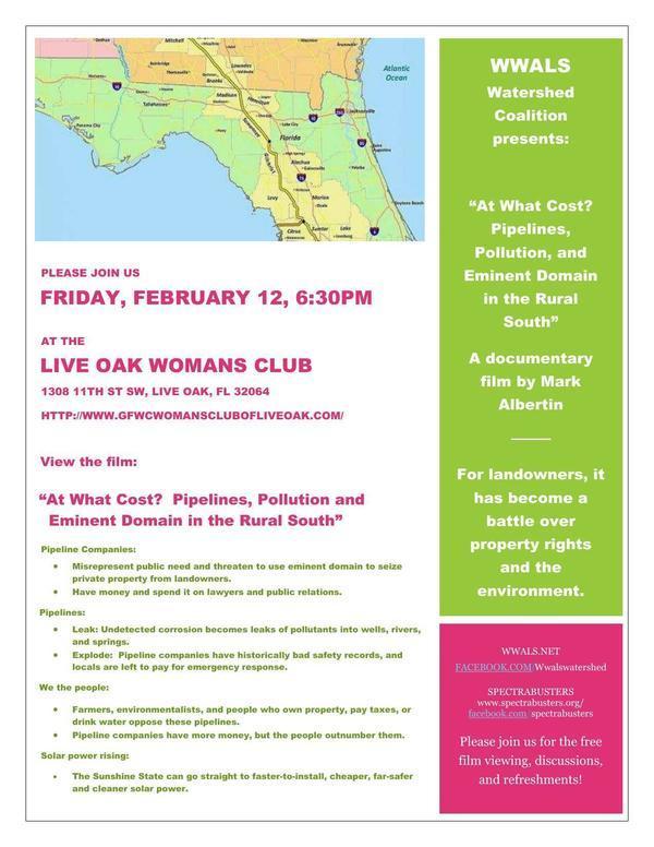 6:30 PM Friday 12 Feb 2016, Live Oak, FL