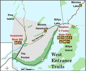 Okefenokee West Entrance Trails