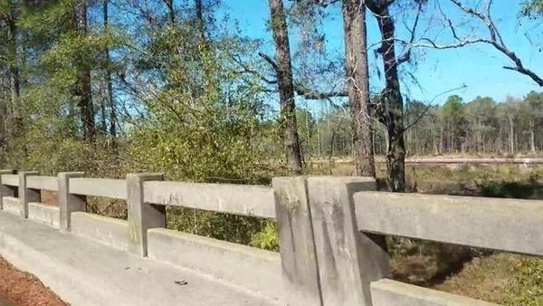 Red pipe, Okapilco Creek Middle Bridge, Sabal Trail,