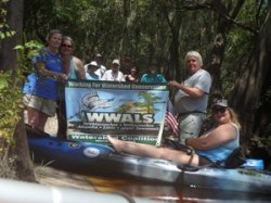 WWALS banner at lunch 30.5256317, -82.7287600