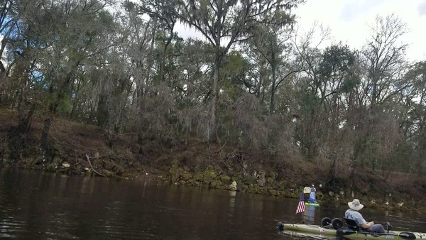 Suwannee County (left) bank, Suwannee River, Sabal Trail crossing,