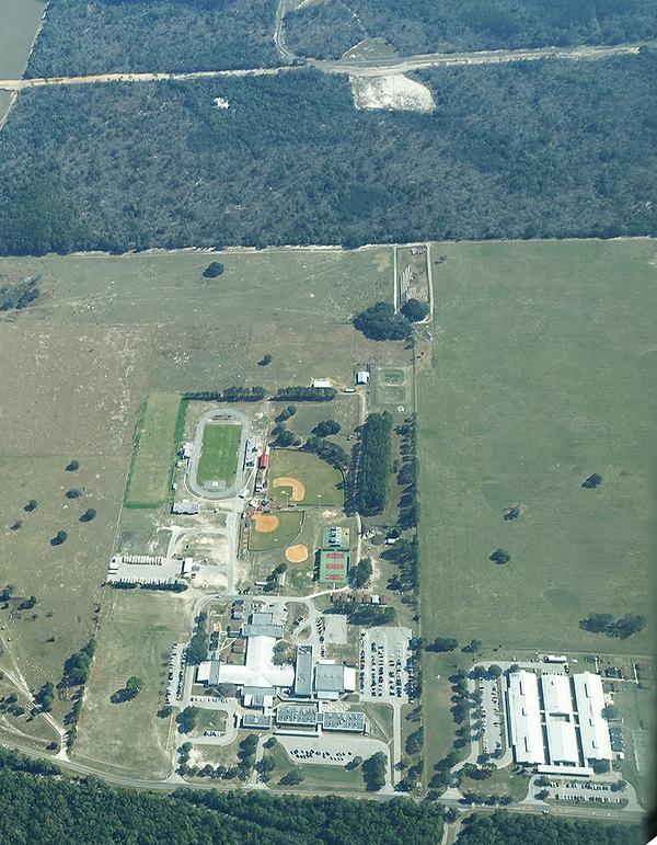 Dunnellon High School and Sabal Trail half a mile away