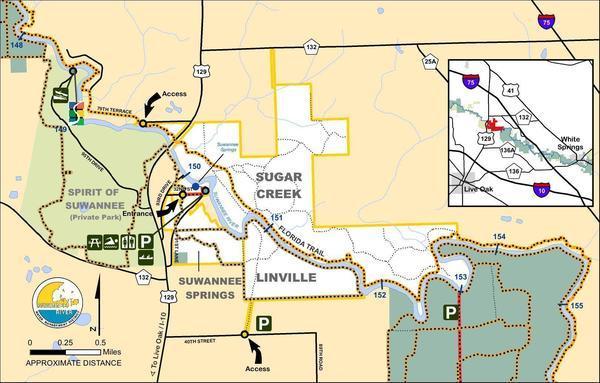 Suwannee Springs Tract Map