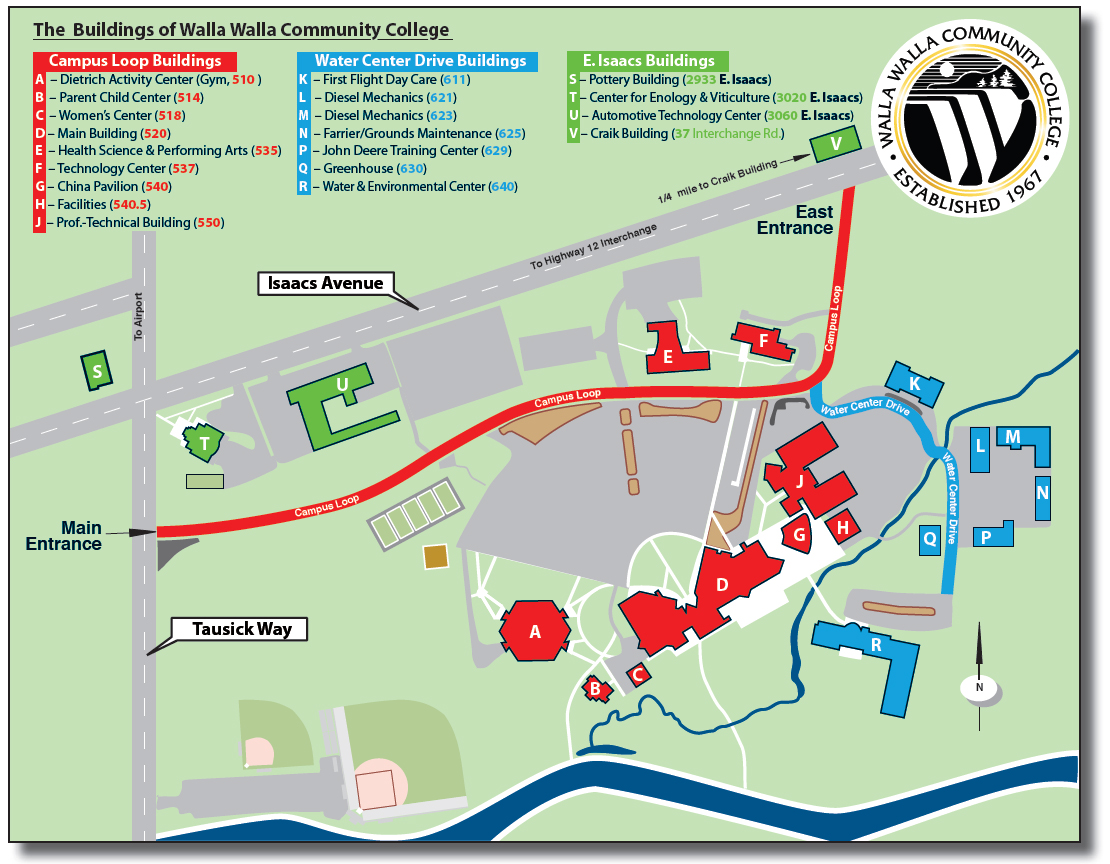 College Map Campus Richland Community