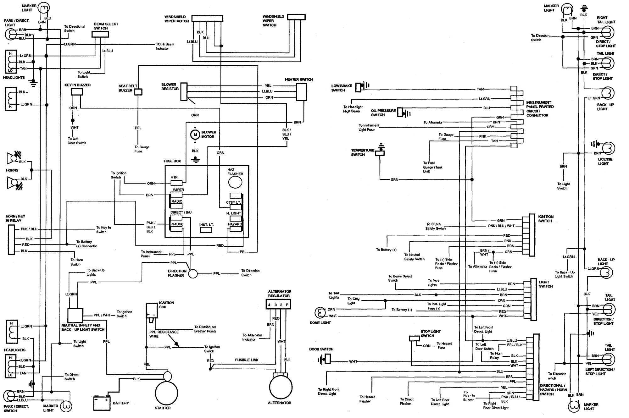 72 Chevy Nova Wiring Diagram