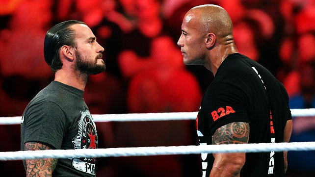 CM Punk and The Rock face