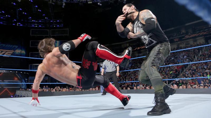 Image result for AJ Styles vs Baron Corbin
