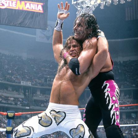 Image result for bret hart and shawn michaels