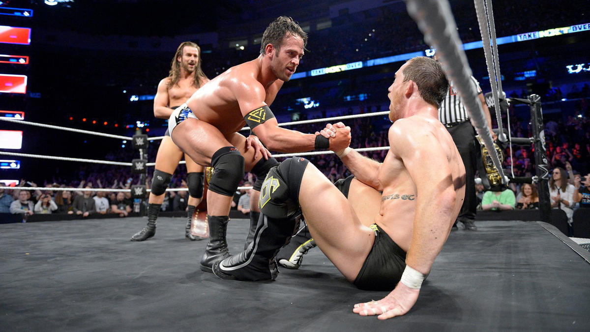 In the end, Roderick Strong crosses the battle lines and helps The Undisputed ERA retain the NXT Tag Team Titles ...