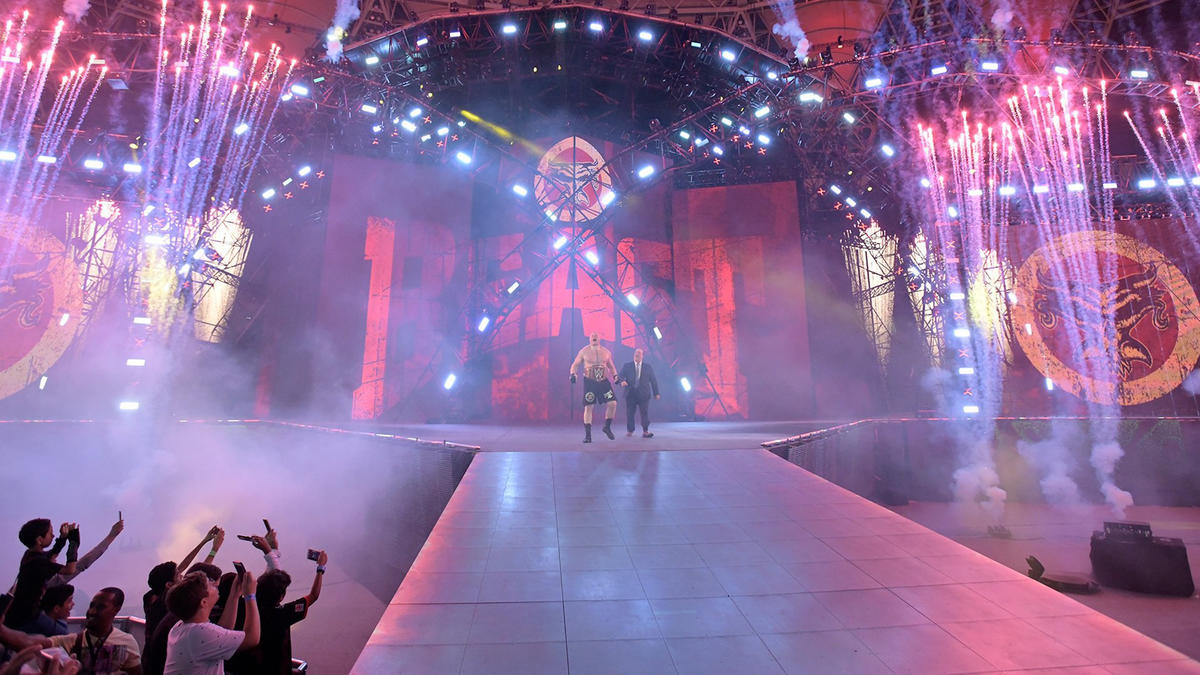 Jeddah, Saudi Arabia, becomes Suplex City as Universal Champion Brock Lesnar makes his way to the ring.