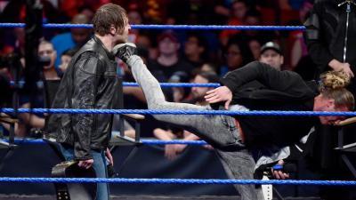 Ziggler stuns the WWE World Champion with a superkick!