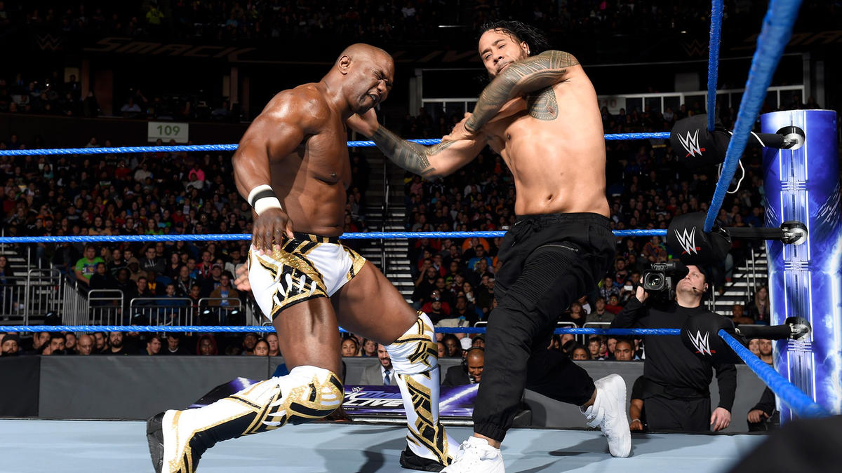 SmackDown Tag Team Champions The Usos Def Shelton Benjamin Amp Chad Gable WWE