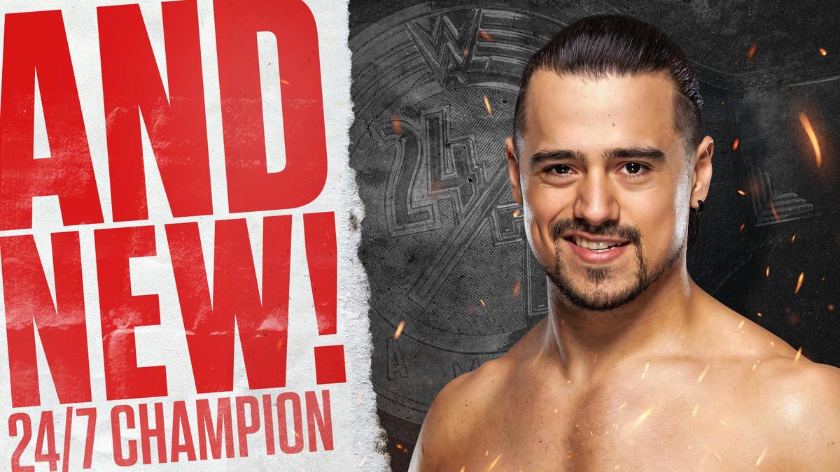 Angel Garza wins 24/7 Championship on TikTok's New Year's Eve party