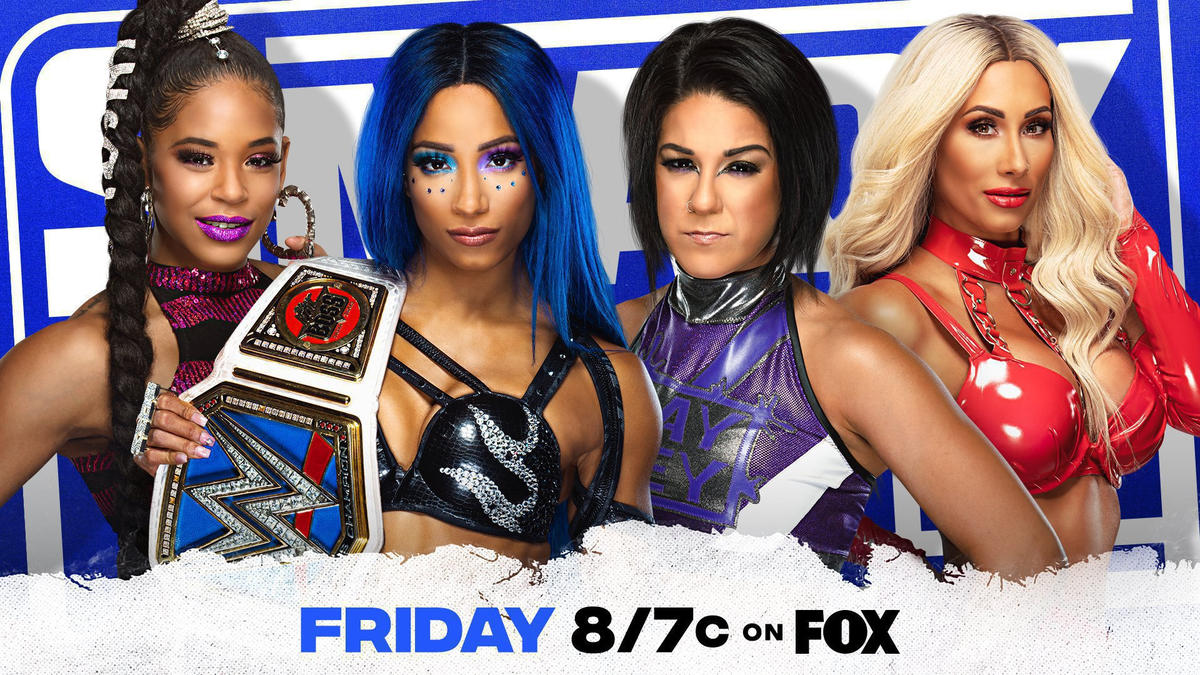Sasha Banks & Bianca Belair battle Bayley & Carmella