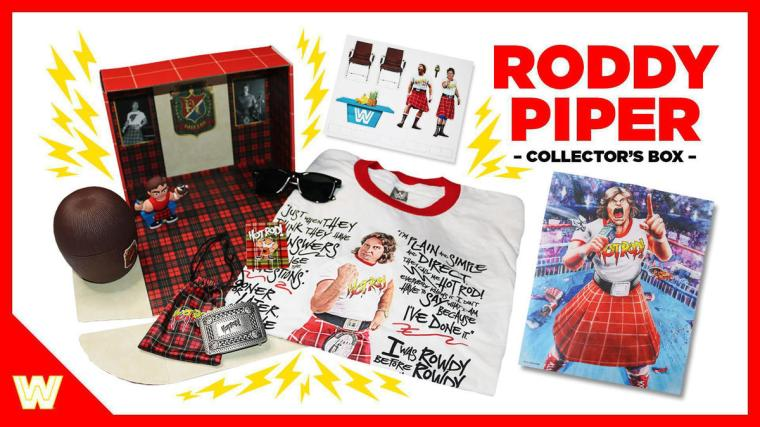 """""""Rowdy"""" Roddy Piper Limited Edition Collector's Box available on WWE Shop"""