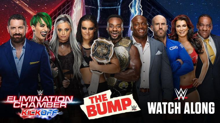 WWE's The Bump, Kickoff Show, Watch Along and more slated for Elimination Chamber Sunday