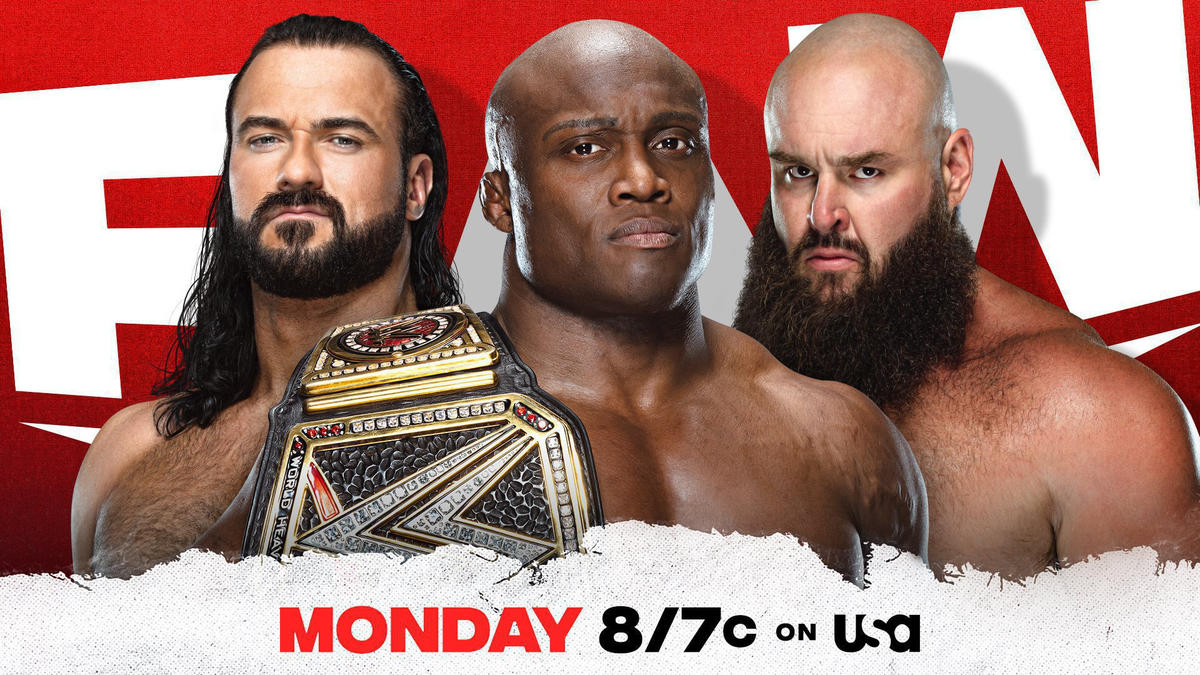 WWE Champion Bobby Lashley to compete against either Drew McIntyre or Braun Strowman this Monday night