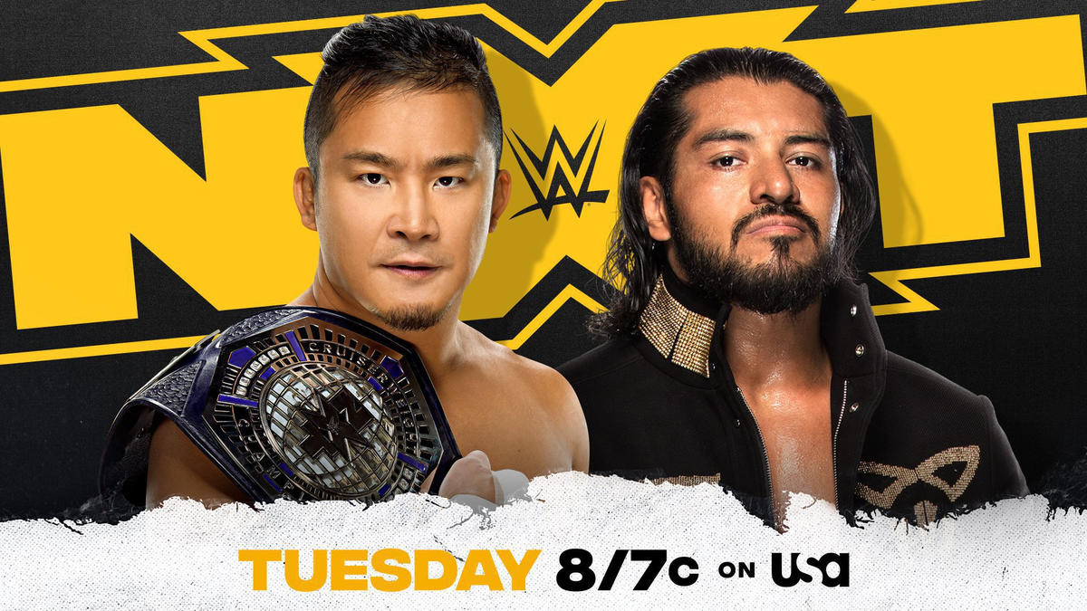 NXT Cruiserweight Champion Kushida looks to best Santos Escobar in 2-out-of-3 Falls Match