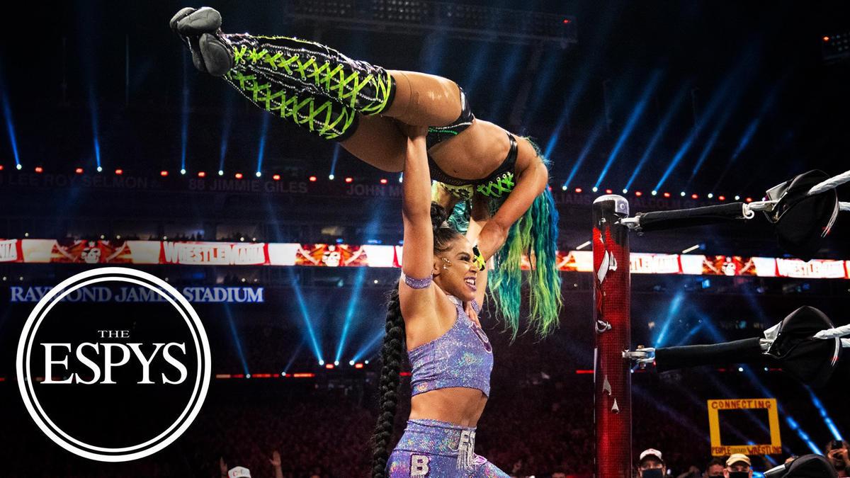 Bianca Belair vs. Sasha Banks at WrestleMania wins the ESPY Award for Best WWE Moment