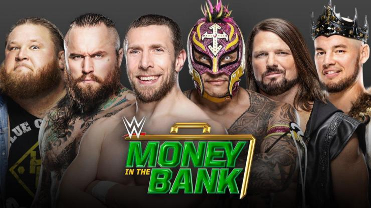 Daniel Bryan vs. AJ Styles vs. Rey Mysterio vs. Aleister Black vs. Otis vs. King Corbin (Men's Money in the Bank Ladder Match)