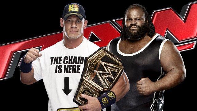 John Cena y Mark Henry para ir cara a cara
