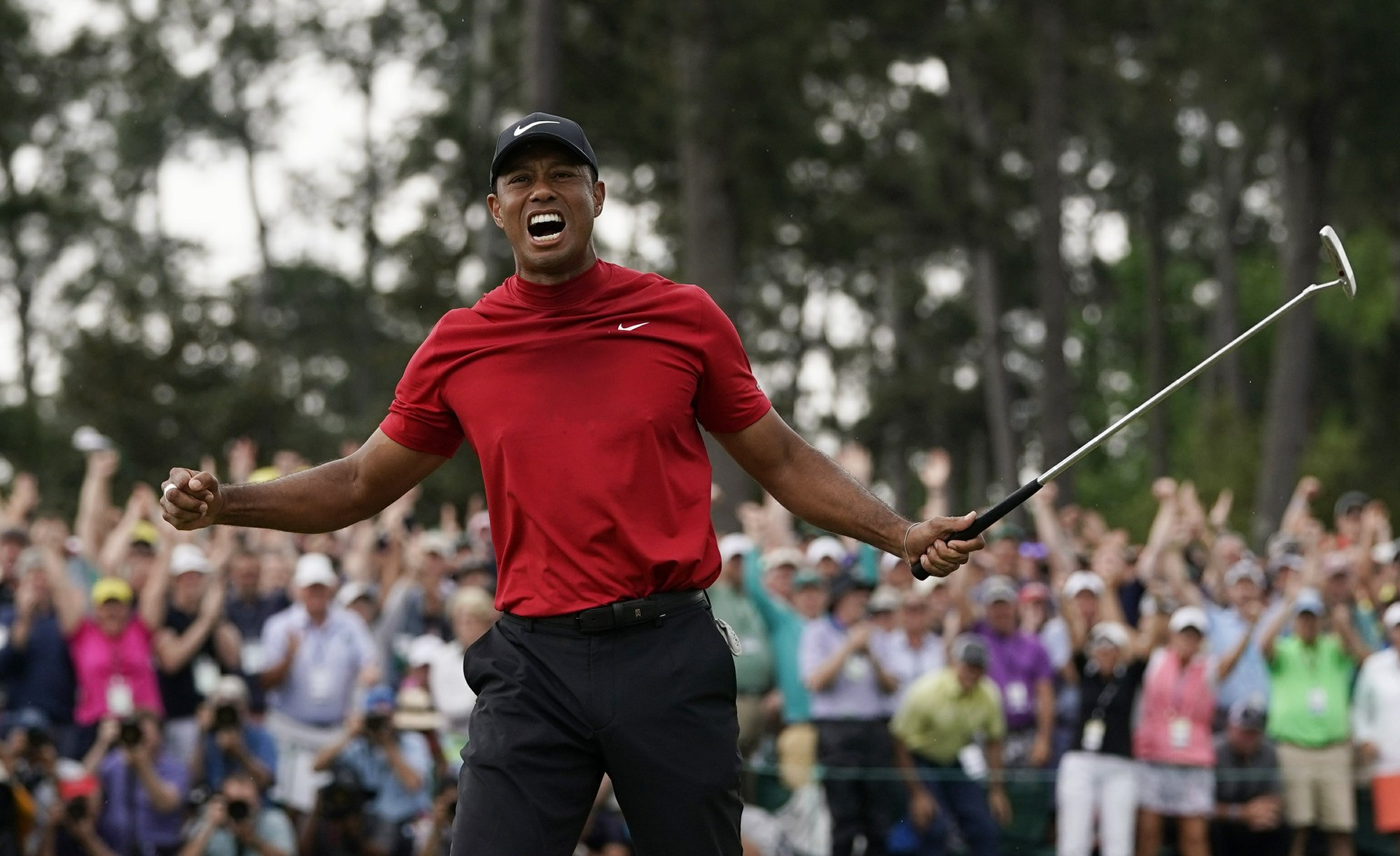 d0e2e2e8 Tiger Woods makes Masters 15th and most improbable major