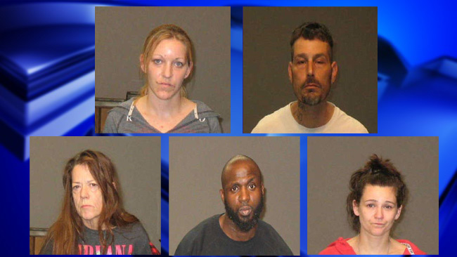 Five facing drug-related charges after raid on Chicopee home