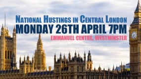 Urgent Invitation to National Hustings in Central London