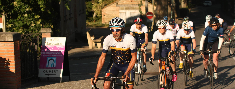 Lead Cyclist Phil Deeker