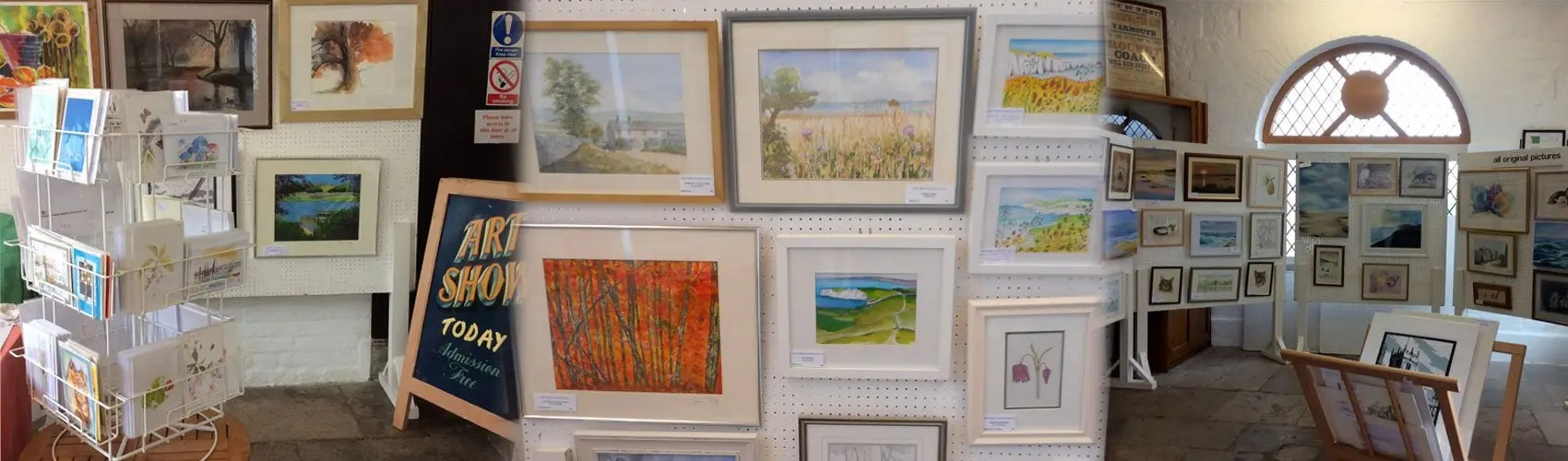 West Wight Painting Circle Exhibitions held at Yarmouth Town Hall