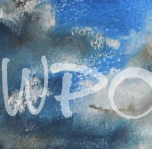 West Wight Painting Circle Website image Logo on Pastel Drawing of Clouds
