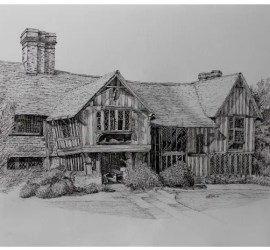 drawing by murray ince of great dixter