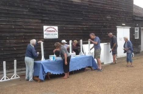 Volunteers refreshing the WWPC exhibition boards