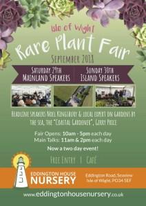 VBA exhibition at Eddington House Plant Fair Flyer
