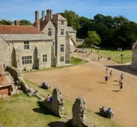 painting out day may 2019 held at Carisbrooke castle