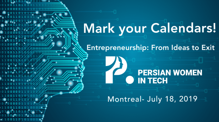 Mark your calendars for July 18th for the next Persian Women in Tech!