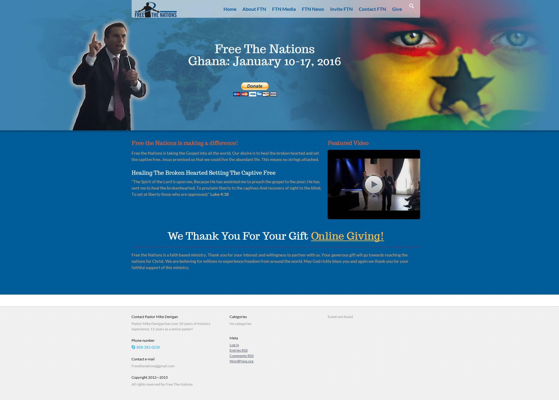 Free The Nations Website